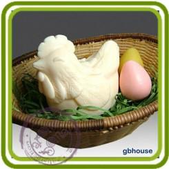 Курочка большая - 3D силиконовая форма для мыла, свечей, шоколада, гипса и пр.