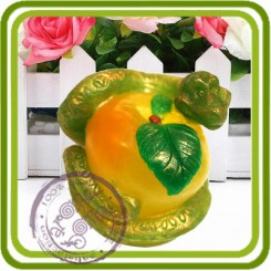Змейка на яблоке - 3D силиконовая форма для мыла, свечей, шоколада, гипса и пр.