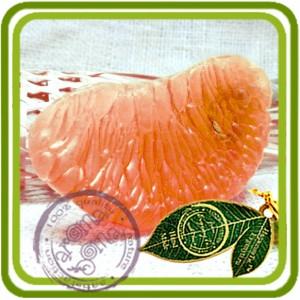 Долька большая (Помело, Грейпфрут) без кожуры - 2D Объемная силиконовая форма для мыла, свечей, гипса, шоколада и пр.